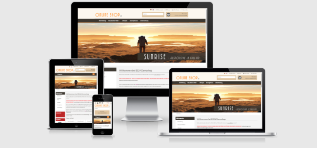 modified Responsive Template Shopdesign SUNRISE