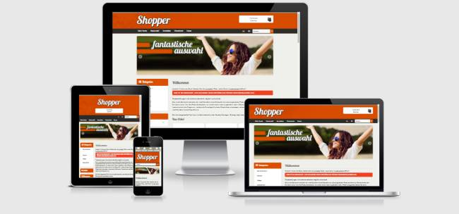 Responsive Template Shopper - Mode, Lifestyle & Spielzeug
