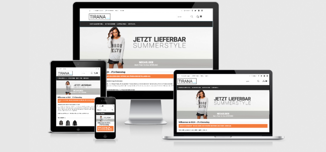 Responsive Template JTL Shop TIRANA - Mode, Lifestyle & Technik